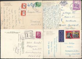 16 db vegyes portós és 8 db légi posta képeslap