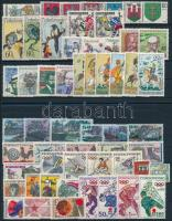 1971-1972 11 diff sets + 5 diff stamps, 1971-1972 11 klf sor + 5 klf önálló érték 2 db stecklapon
