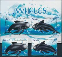 2009 Delfin blokk + blokkból kitépett bélyegek Mi 284 + 2358-2359