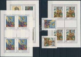 Painting 2 stamps + minisheet set, Festmények sor 2 értéke + kisívsor