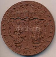 NSZK 1968. Hochstift Meissen 968-1968 porcelán plakett (66mm) T:1 FRG 1968. Hochstift Meissen 968-1968 porcelain plaque (66mm) C:UNC