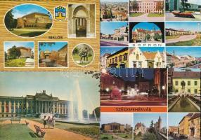 37 db MODERN magyar használatlan városképes lap / 37 modern Hungarian unused town-view postcards