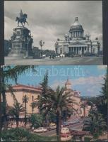 40 db MODERN szovjet városképes lap az 50-es évektől, több díjjegyes lap / 40 modern Soviet town-view postcards from the 50s