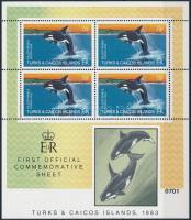Killer whale mini sheet, Kardszárnyú delfin kisív