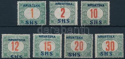 SHS 1918 7 klf Portó bélyeg Bodor vizsgálójellel (21.400)