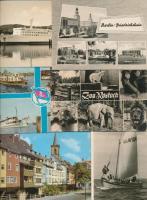 80 db MODERN keletnémet városképes lap / 80 modern Eastern-German town-view postcards
