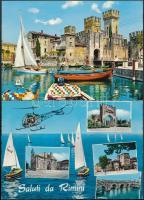 35 db MODERN használatlan olasz városképes lap / 35 modern unused Italian town-view postcards