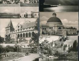 70 db MODERN magyar fekete-fehér városképes lap / 70 modern Hungarian black and white town-view postcards