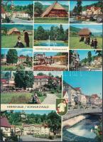 37 db MODERN használatlan külföldi városképes lap; NSZK, Svájc, Ausztria / 37 modern unused European town-view postcards; West Germany, Switzerland, Austria