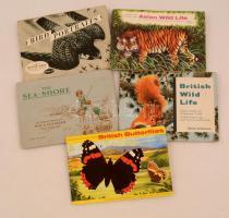 cca 1950 5 db angol cigarettakártya gyűjtőfüzet / Cigarette cards collectors booklet complete 5 sets