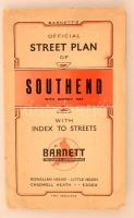 cca 1920 A Southend térképe. Bartnetts Southend plan