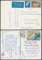 1964 Magyar olimpiai sportolók által aláírt és hazaküldött képeslapok