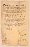1821 Bélik József (1757-1847) püspök által aláírt okmány
