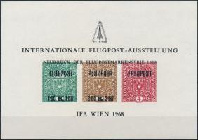 IFA International Airmail stamp exhibition memorial sheet, IFA Nemzetközi Légiposta bélyegkiállítás emlékív