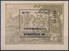 1992 Bélyegnap eltérő színű blokk (18.000)