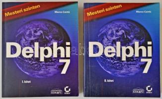 Marco Cantú: Delphi 7. I-II. Mesteri szinten. Budapest, 2003. Kiskapu Kft. Kiadói papírkötésben.
