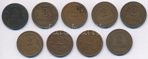 1926-1939. 2f Br (9xklf) T:2,2-