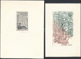 Gastmans, Dolatovska, Sora Natalia, ...5 db ex libris rézkarc, jelzettek / 5 Etched bookplates 14x11 cm