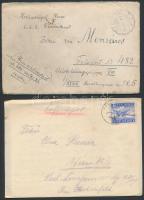 24 db Küldemény a 10-es 40-es évekből közte tábori posták, hadifogolylapok, cenzúrák, 1 német tábori légiposta levél