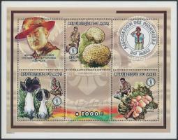 1998 Cserkész, gombák kisív Mi 2036, 2038, 2045