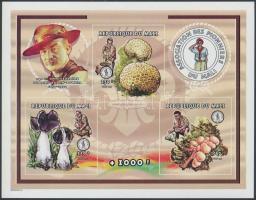 1998 Cserkész, gombák vágott kisív Mi 2036, 2038, 2045