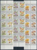 1987-1989 Gombák bélyegfüzetből kitépett 3 db sor tízestömbökben Mi 969-970, 990-991, 1012-1013 (2 db falcos)