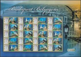 2007 Budapest Bélyegem megszemélyesített teljes ív (Darabanth) (9.000)