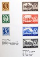 Nagy-Britannia és területei 1952-1965 33 klf kiadás a Nemzetközi Telekommunikációs unió 1965-ös kongresszusára készült kiadványban