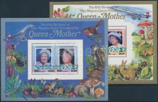 Queen Elizabeth 2 blocks Erzsébet királynő 2 db blokk