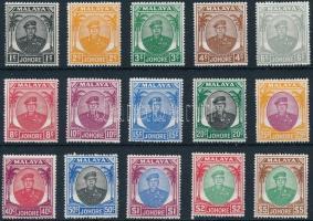 Johore 1949 Forgalmi 15 érték Mi 115-118, 120-121, 123, 125-126, 128, 131-135