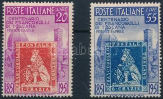 1951 100 éves a toscanai bélyeg Mi 826-827
