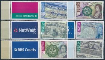 2008 Isle of Man bankjegyei ívszéli szelvényes sor Mi 1427-1432