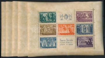 1938 5 db Szent István blokk (35.000)