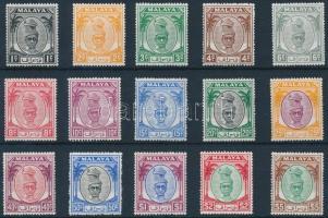 Perak 1950 Forgalmi 15 érték Mi 81-84, 86-87, 89, 91-92, 94, 97-101