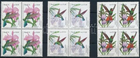 Stamp Exhibition BRAPEX '91 set in blocks of 4, Bélyegkiállítás BRAPEX '91 sor 4-es tömbökben