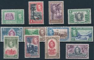 British Honduras 1938/1947 Definitive set (4c, 50c perf. faults) Brit Honduras 1938/1947 Forgalmi sor (4c, 50c foghibák / perf. faults)
