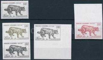 Vadmacska eredeti bélyeg és színpróbái Wild cat stamp + color proof
