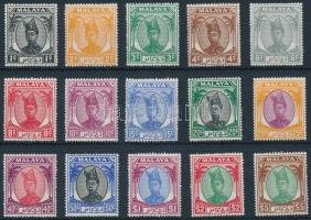Trengganu Forgalmi 15 érték Trengganu Definitive 15 stamps