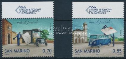 Europa CEPT: Postai járművek ívszéli sor, Europa CEPT: Postal vehicles margin set