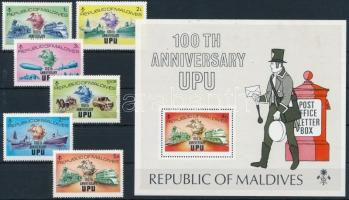 1974 UPU sor Mi 514-519 A + blokk Mi 25 A