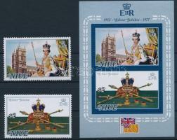 1977 II. Erzsébet sor Mi 171-172 + blokk 1