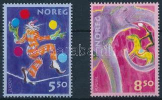 2002 Europa CEPT Cirkusz sor Mi 1446-1447 (Mi 1446 betapadásnyom/gum disturbances)