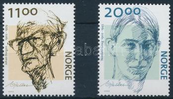 2002 Johann Borgen és Nordahl Grieg sor Mi 1438-1439