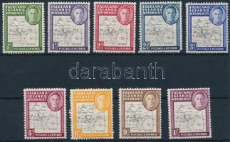 1946/1949 Forgalmi sor Mi 1-9 II ( 2 1/2 érték sarokhibás / missing corner)