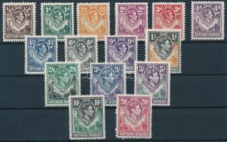 1938 Forgalmi 15 érték Mi 26 C, 28, 30, 33, 35-45