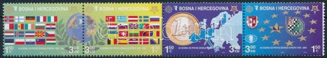 2005 50 éves az Europa CEPT négyescsík Mi 419-422