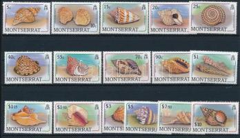1988 Kagylók és tengeri-csigák sor Mi 710-725