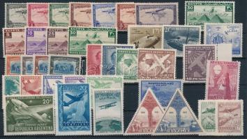 Planes 32 diff stamps before 1951, Repülő motívum 32 klf 1951 előtti bélyegen