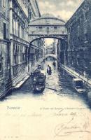 1899 Venice, Venezia; Ponte dei Sospiri / Bridge of Sighs