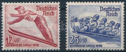 1935 Téli Olimpia sor Mi 601-602